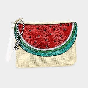 Handbags - Sequin Watermelon Clutch Bag